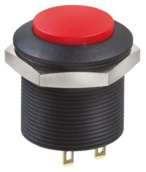 Apem FPAR1D1-2-6-2Е кнопка, Ø 24 mm, Latching (OFF - ON), 4A, 12VDC, IP69K