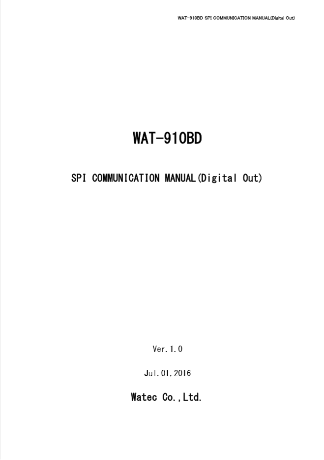 WAT-910BD SPI COM(DO) User Manual