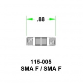 JFW переходник 115-005, SMA Female - SMA Female, 0 MHz - 8 GHz, 50 Ohm