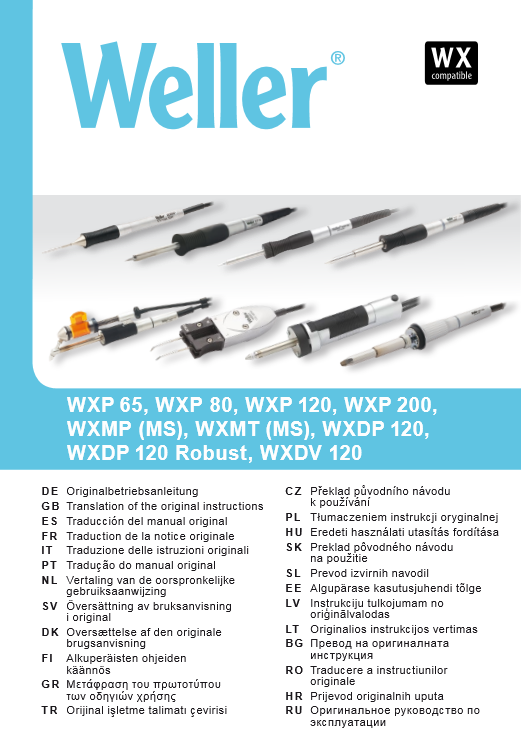 Manual Weller WX Tools QuickStart