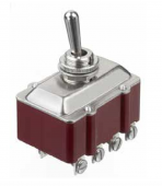 Apem 661 тумблер, 10 A 30 VDC, 4 pole, ON - OFF, Screw terminals