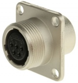 Hirose JR13RK-5S роз'єм, Receptacle, Female contacts, 5 way, 250 V ac, 5A, Panel Mount