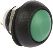 Apem ISR3SAD300 кнопка, Ø 12 mm, Momentary (NO), Threaded bushing, green actuator, 400 mA 32 VAC - 100 mA 48 VDC, IP67