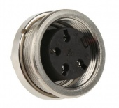 Amphenol T3303 000 роз'єм, Socket, Female contacts, 4 way, 300 V, 5A, IP40, Screw, Panel Mount