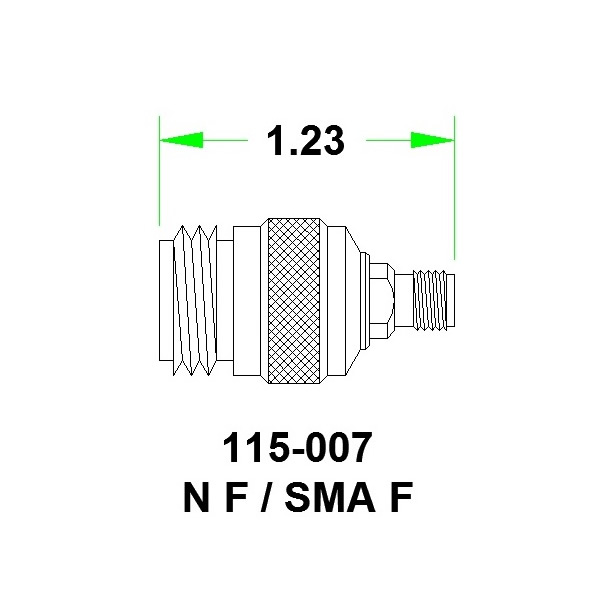 JFW переходник 115-007, SMA Female - N Female, 0 MHz - 8 GHz, 50 Ohm