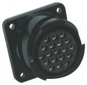 Glenair ITS3102A22-22PF7 круглий роз'єм високої міцності, Receptacle, Pin Contacts, 4 Way, MIL-DTL-5015, 500 V ac, 700 V dc, 73 А, Shell Size 22, Bayonet