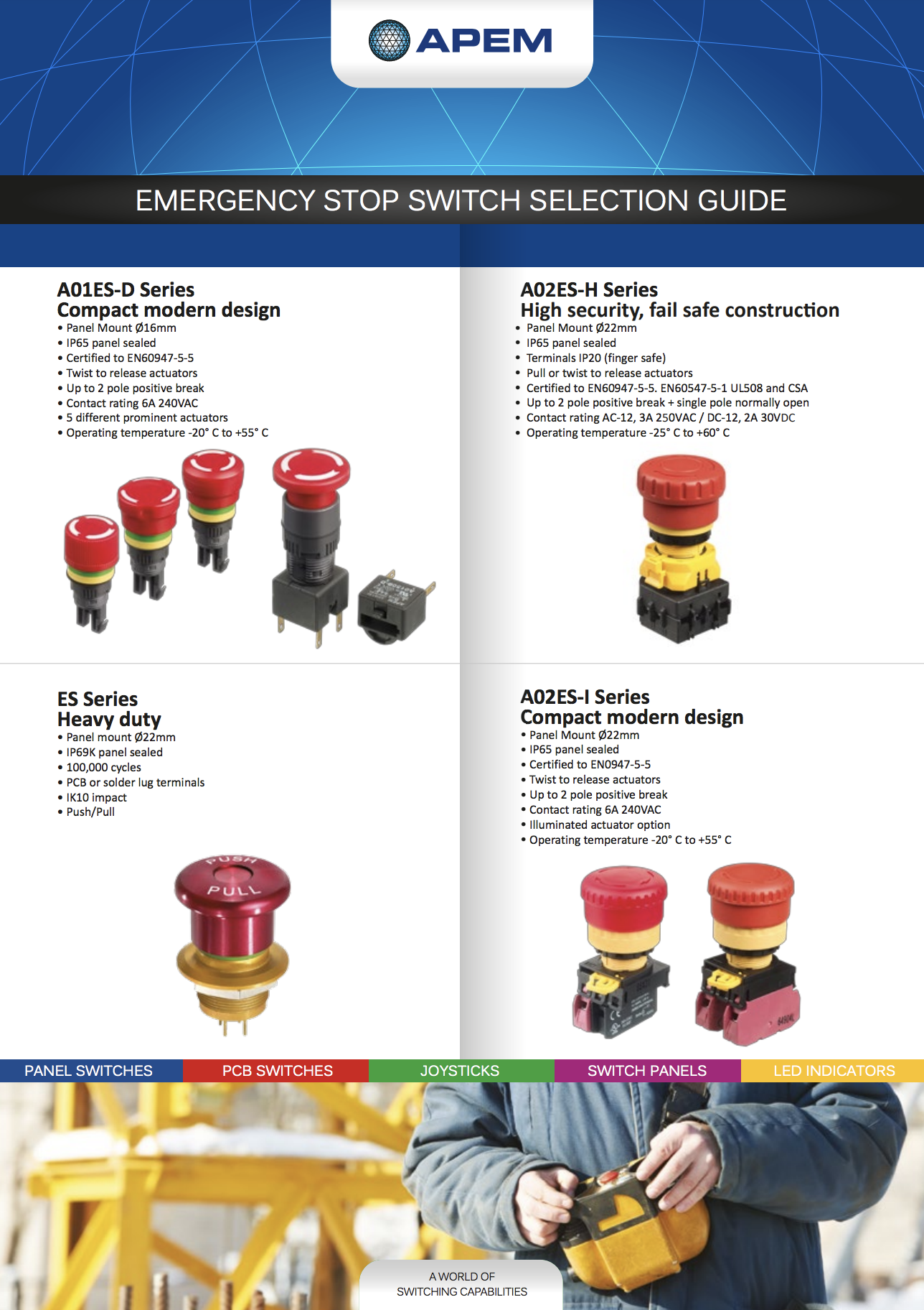 Apem Emergency Stop Selection Guide 2016