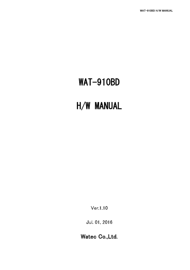 WAT-910BD HW User Manual