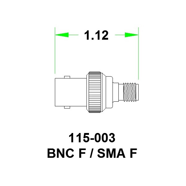 JFW переходник 115-003, SMA Female - BNC Female, 0 MHz - 6 GHz, 50 Ohm