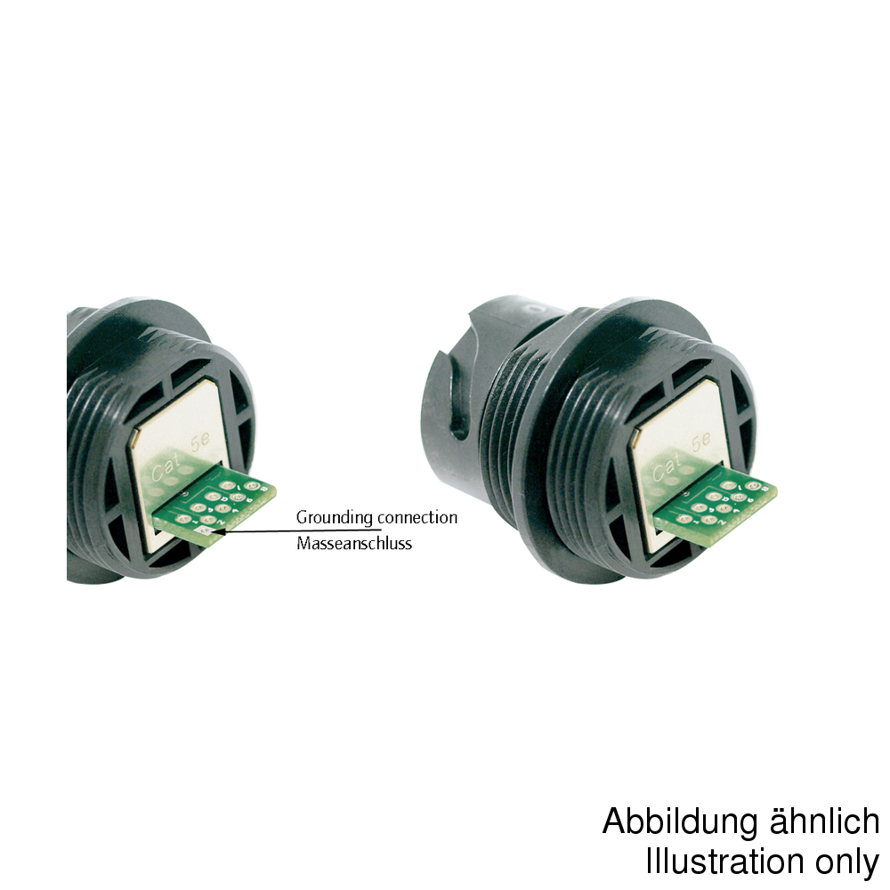 Conec RJ45 разъем 17-10017, Socket, Bayonet, IP67