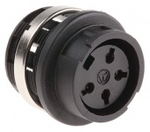 Amphenol T3327000 роз'єм, Socket, Female contacts, 4 way, 300 V ac, 5A, M16, Bayonet, Panel Mount