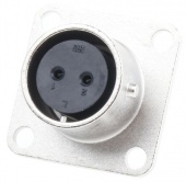 Hirose RM12BRB-2S роз'єм, Receptacle, Female contacts, 2 way, 600 V ac, 5A, Bayonet, Panel Mount