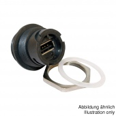 Conec 17-200001 разъем USB 2.0 Type A, Receptacle, IP67, Bayonet