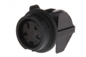 Amphenol T3327500 роз'єм, Socket, Female contacts, 4 way, 300 V ac, 5A, M16, Bayonet, Panel Mount