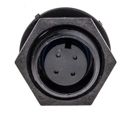 Bulgin PX0413/04S роз'єм, Socket, Female contacts, 4 way, 125 V ac/dc, 5A, IP68/IP69K