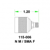 JFW переходник 115-006, SMA Female - N Male, 0 MHz - 8 GHz, 50 Ohm
