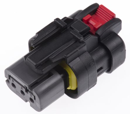 TE Connectivity 776429-2 корпус роз'єму, Plug, 1 Row, 3 Way