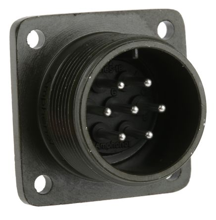 Amphenol MS3102A-16S-1P круглий роз'єм високої міцності, Receptacle, Pin Contacts, 7 Way, MIL-DTL-5015, 500 V ac, Shell Size 16S, Screw