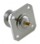 Radiall R162403000 ВЧ разъем , N Coaxial, Straight Flanged Jack, Solder, 75 ohm