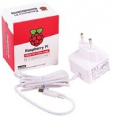 SC0213 блок питания для Raspberry Pi 4 Model B, USB-C, 5.1V, 3A, EU Plug, White