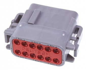 Deutsch DTM0612SA автомобільний роз'єм, Plug, 12 Way, 2 Row, Crimp Termination