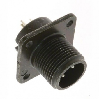 Amphenol PT02E-12-10P круглий роз'єм високої міцності, Receptacle, Pin Contacts, 10 Way, MIL-DTL-26482, 1 kVAC, Shell Size 12, Bayonet