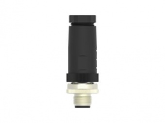 TE Connectivity T4111001051-000 разъем, Plug, Male, M12, 4A, 125V