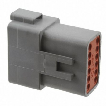 Deutsch DT04-12PA корпус роз'єму, Socket, 2 Row, 12 Way